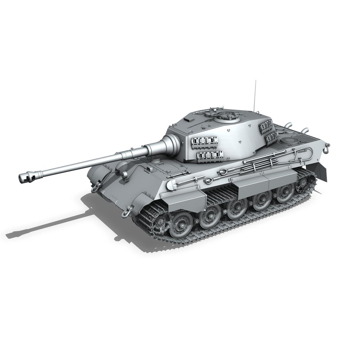 panzerkampfwagen vi – ausf.b – tiger ii – 333 3d model 3ds lwo lw lws obj c4d 265610