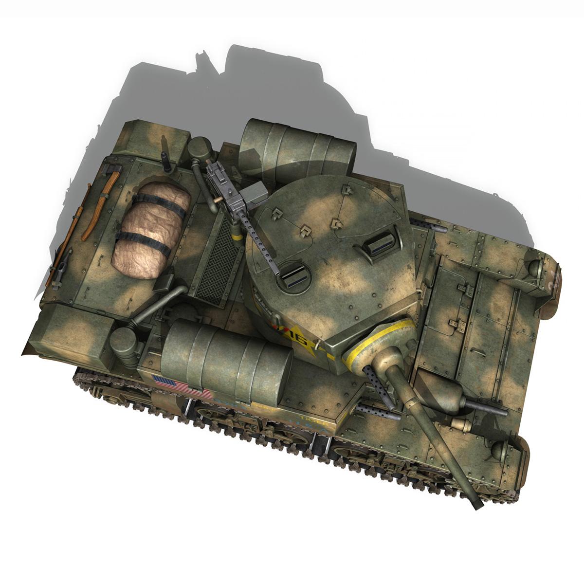 m3a1 light tank stuart – tiger 3d model 3ds c4d fbx lwo lw lws obj 265641