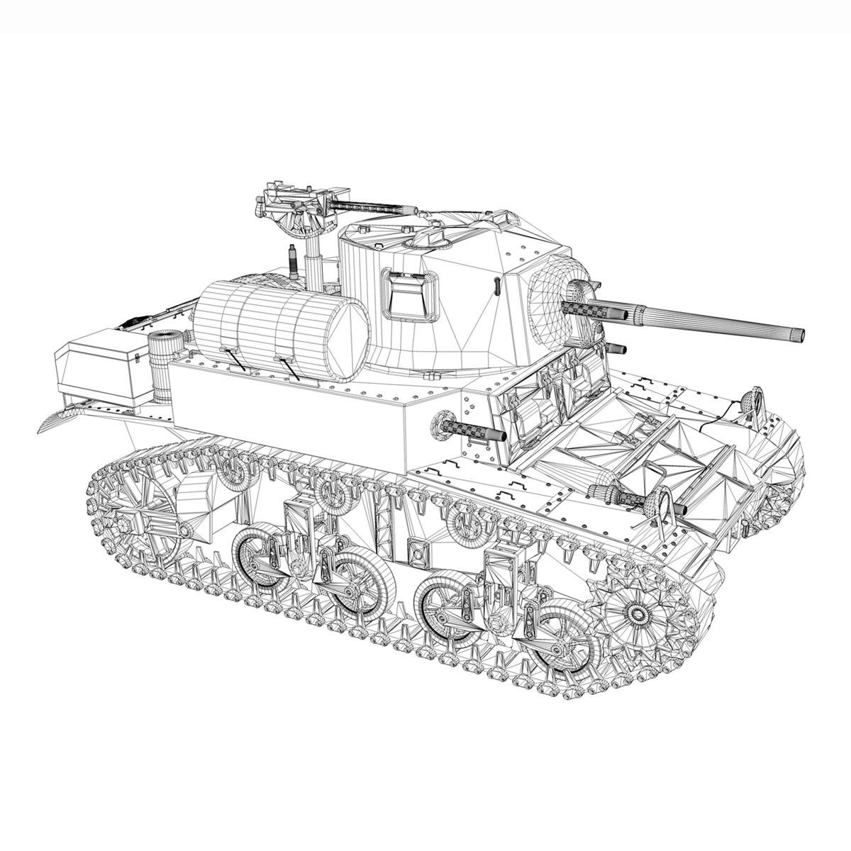m3a1 light tank stuart – tiger 3d model 3ds c4d fbx lwo lw lws obj 265643
