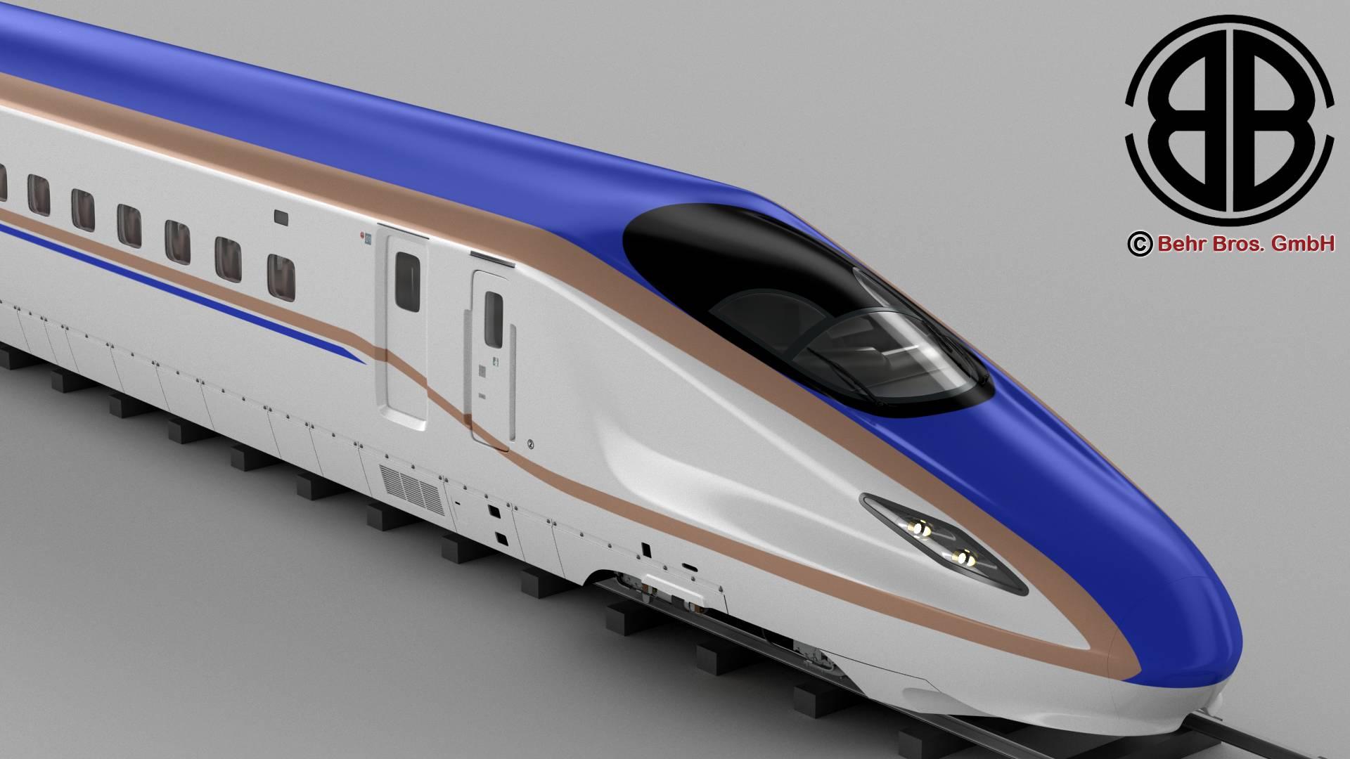 shinkansen e7 3d model 3ds max fbx c4d lwo ma mb obj 265649