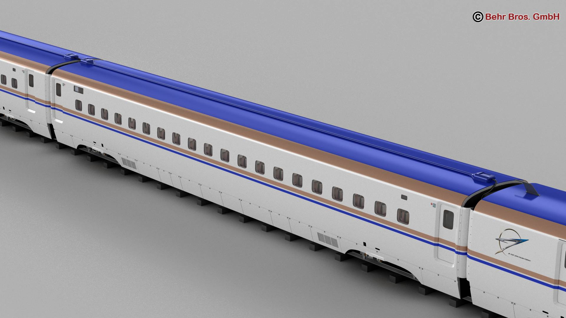 shinkansen e7 3d model 3ds max fbx c4d lwo ma mb obj 265651
