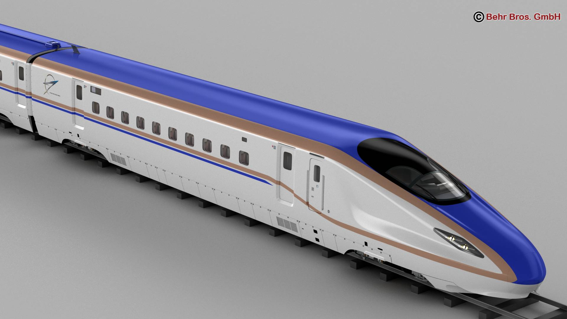 shinkansen e7 3d model 3ds max fbx c4d lwo ma mb obj 265652