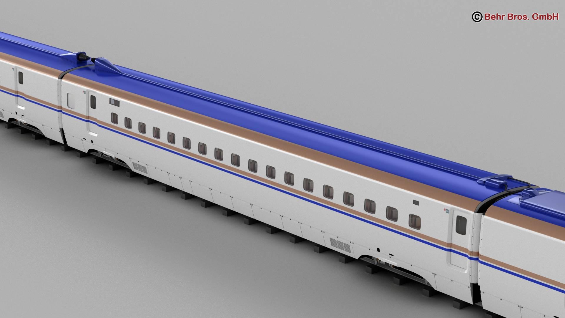 shinkansen e7 3d model 3ds max fbx c4d lwo ma mb obj 265654