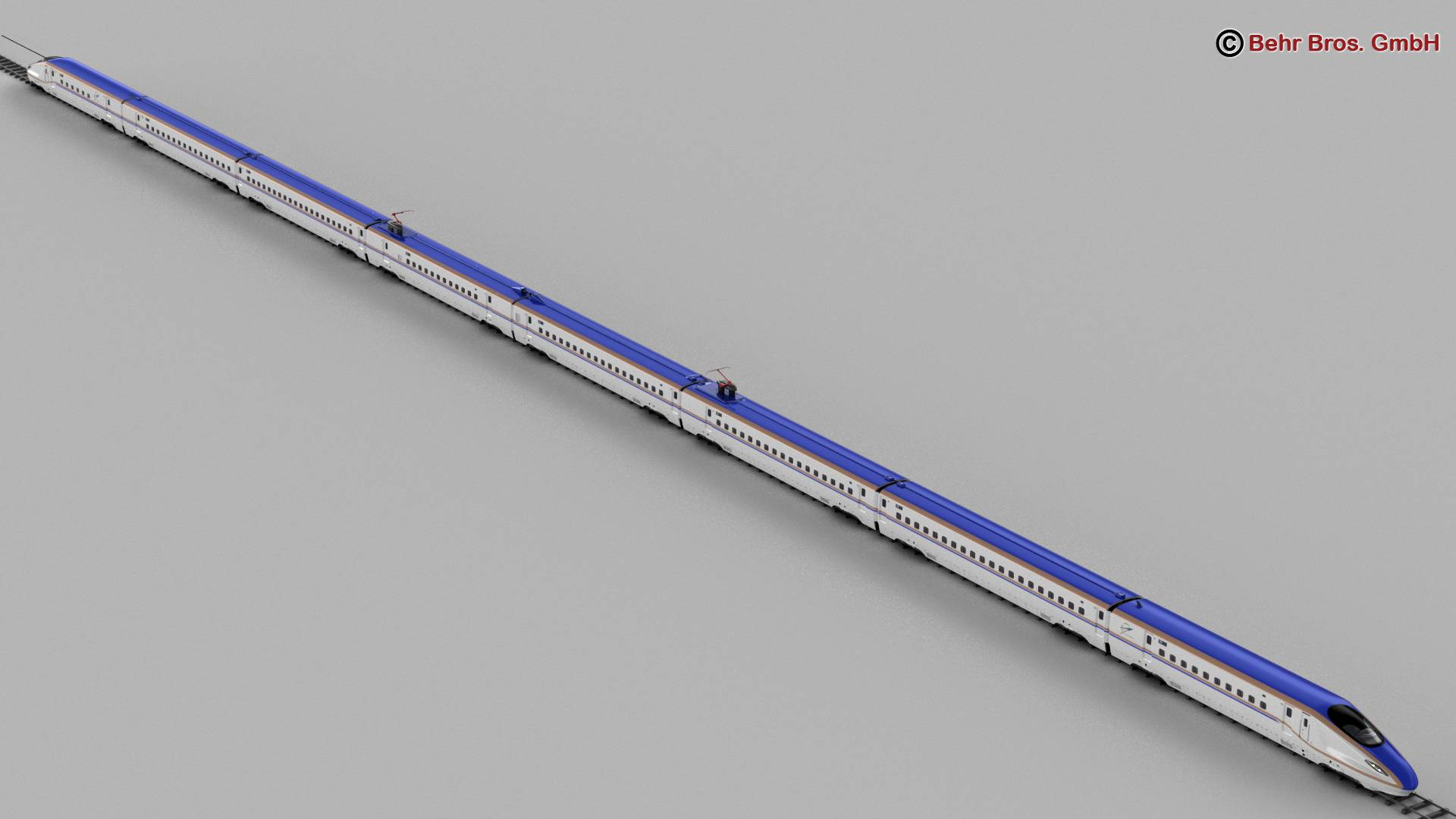 shinkansen e7 3d model 3ds max fbx c4d lwo ma mb obj 265655