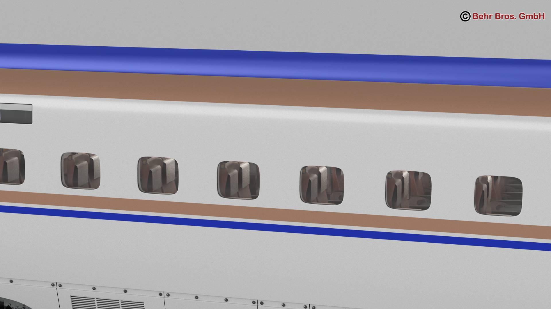 shinkansen e7 3d model 3ds max fbx c4d lwo ma mb obj 265656