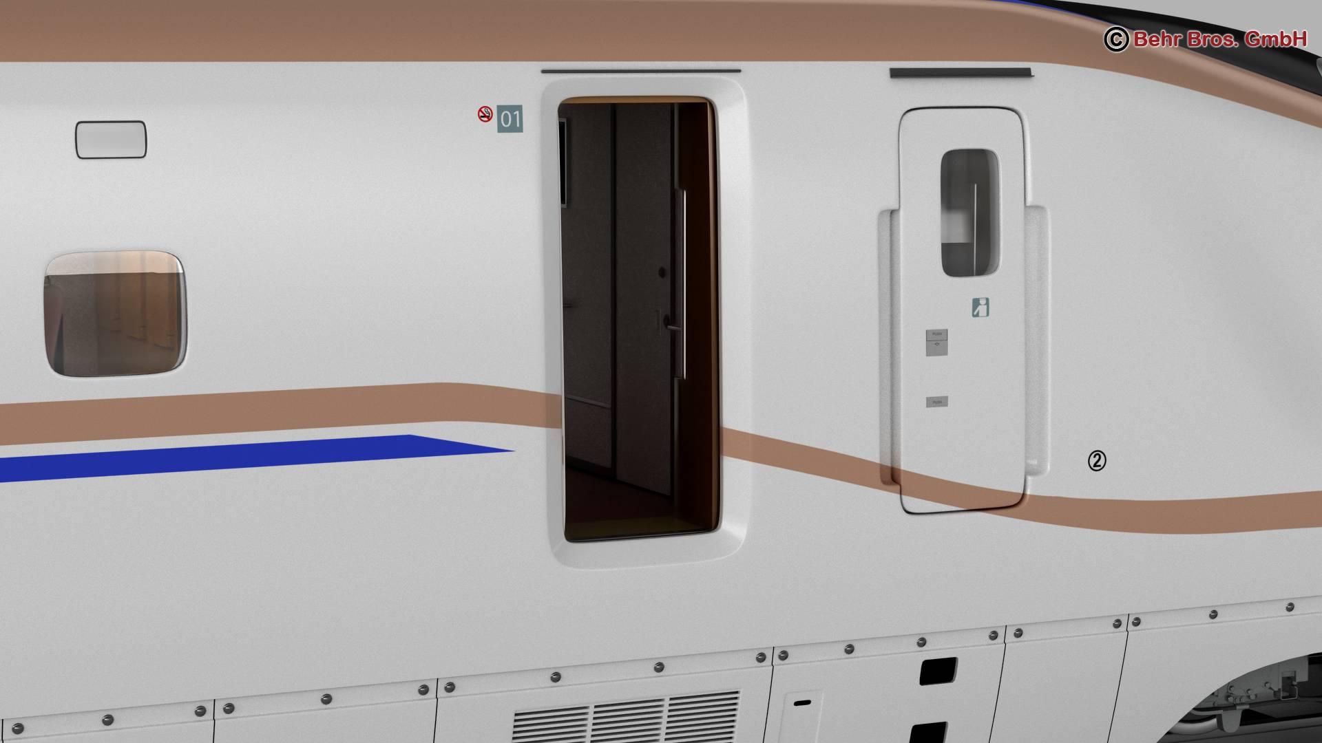 shinkansen e7 3d model 3ds max fbx c4d lwo ma mb obj 265657