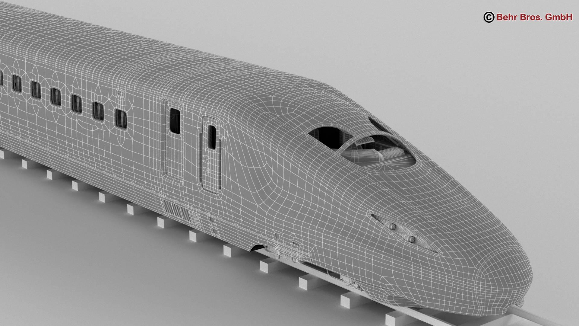 shinkansen e7 3d model 3ds max fbx c4d lwo ma mb obj 265668