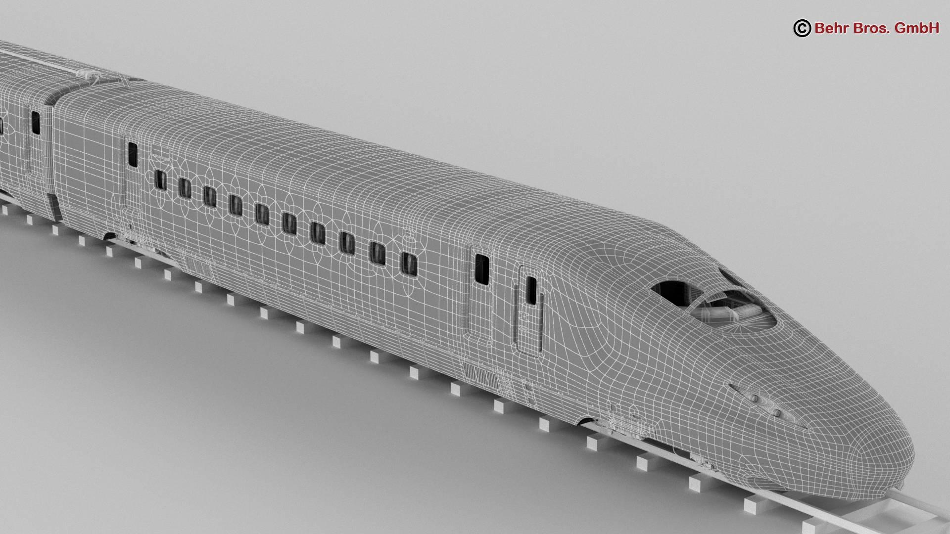 shinkansen e7 3d model 3ds max fbx c4d lwo ma mb obj 265672