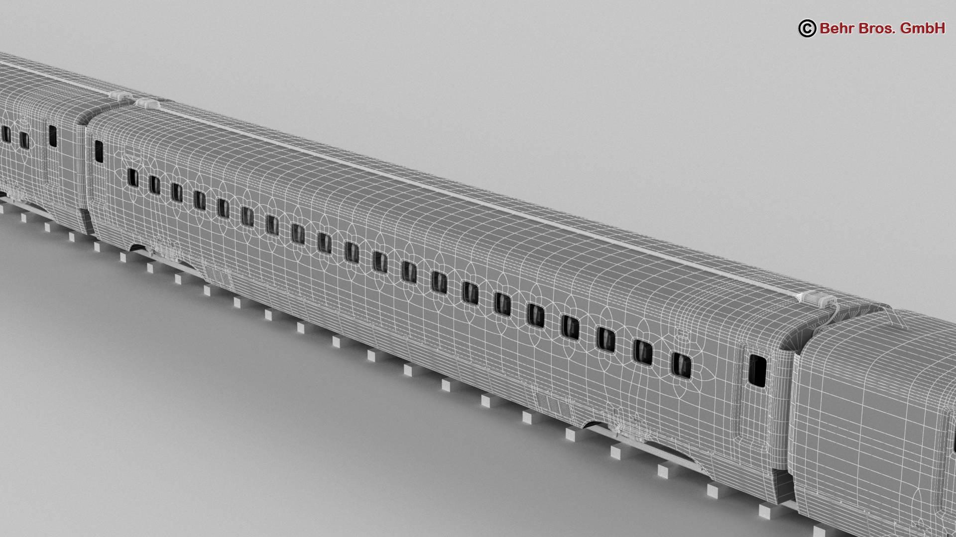 shinkansen e7 3d model 3ds max fbx c4d lwo ma mb obj 265673