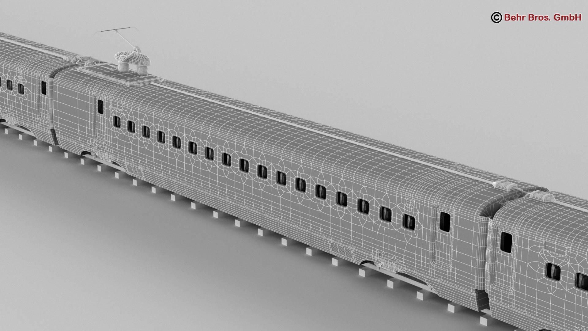 shinkansen e7 3d model 3ds max fbx c4d lwo ma mb obj 265674