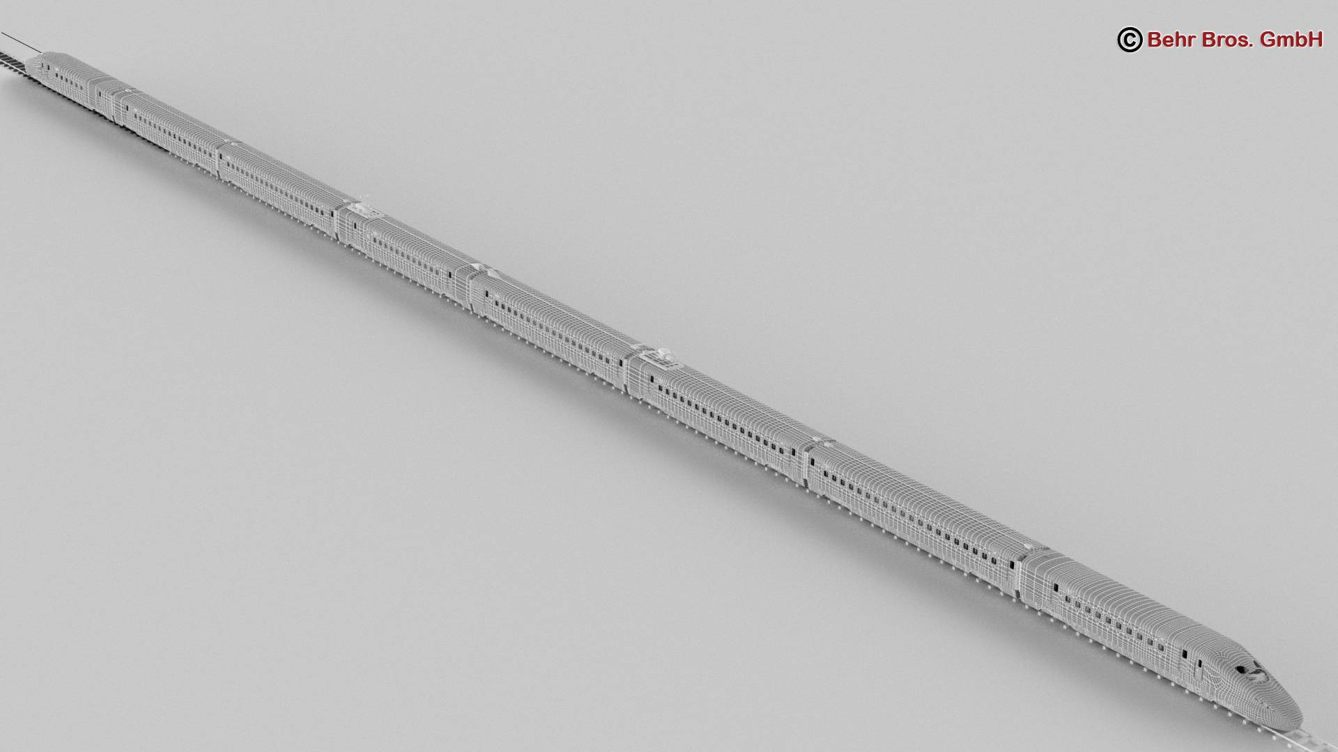 shinkansen e7 3d model 3ds max fbx c4d lwo ma mb obj 265676