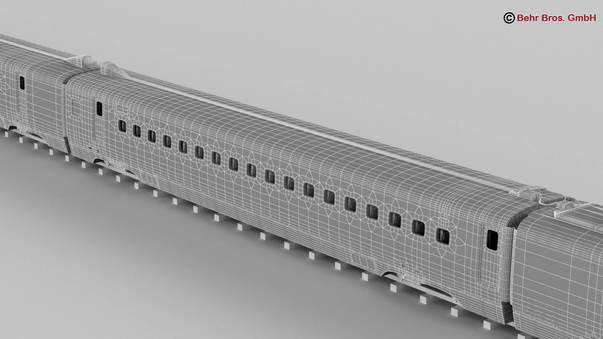 shinkansen e7 3d model 3ds max fbx c4d lwo ma mb obj 265677