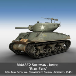 M4A3E2 - Sherman Jumbo - Blue Eyes 3d model 0