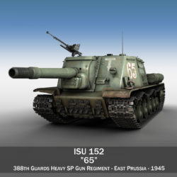 ISU 152 - 65 - Soviet heavy self-propelled gun 3d model 0