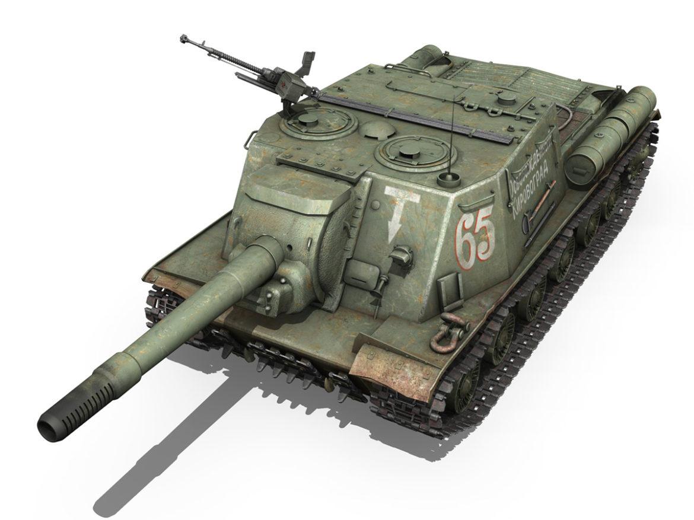 ISU 152 - 65 - Soviet heavy self-propelled gun 3d model 0