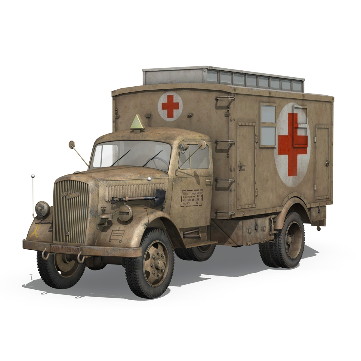 opel blitz – 3t ambulance truck – 2 pzdiv 3d model 3ds c4d fbx lwo lw lws obj 265754