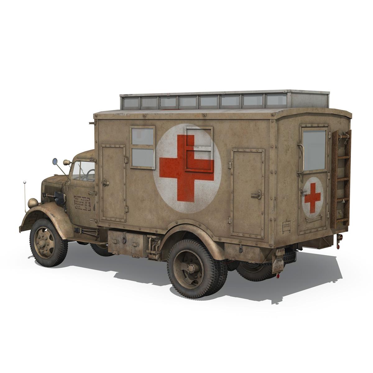 opel blitz – 3t ambulance truck – 2 pzdiv 3d model 3ds c4d fbx lwo lw lws obj 265756