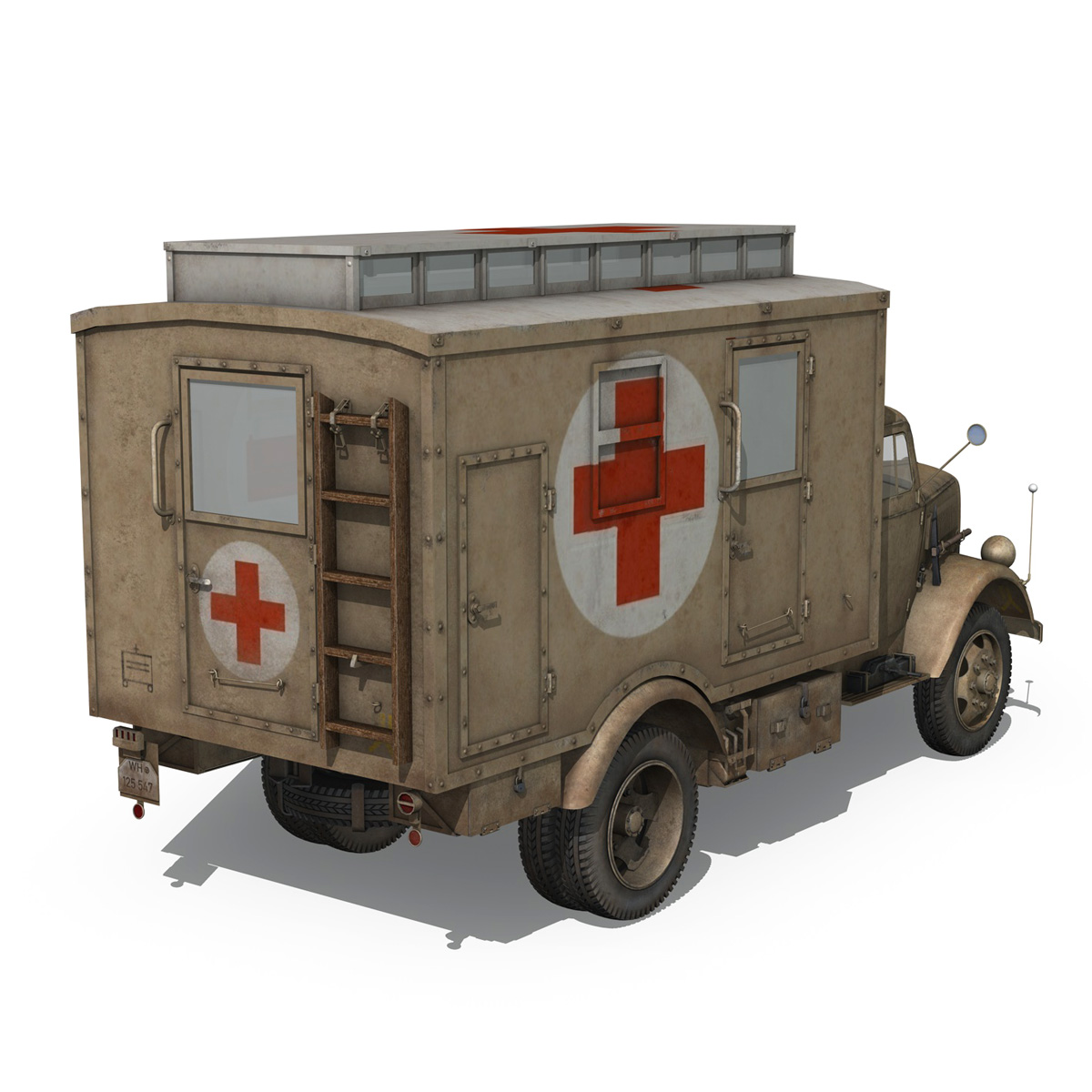 opel blitz – 3t ambulance truck – 2 pzdiv 3d model 3ds c4d fbx lwo lw lws obj 265757