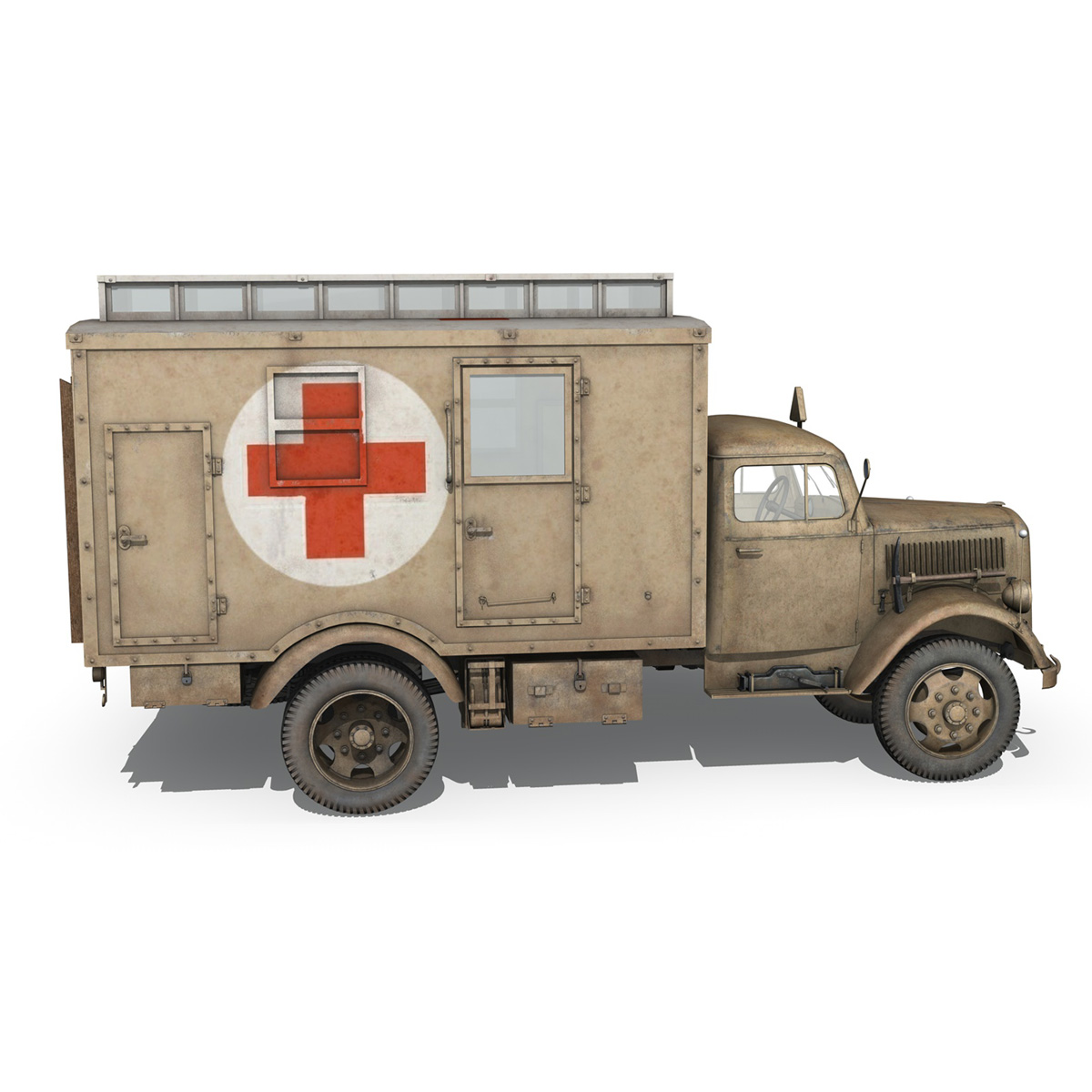 opel blitz – 3t ambulance truck – 2 pzdiv 3d model 3ds c4d fbx lwo lw lws obj 265758