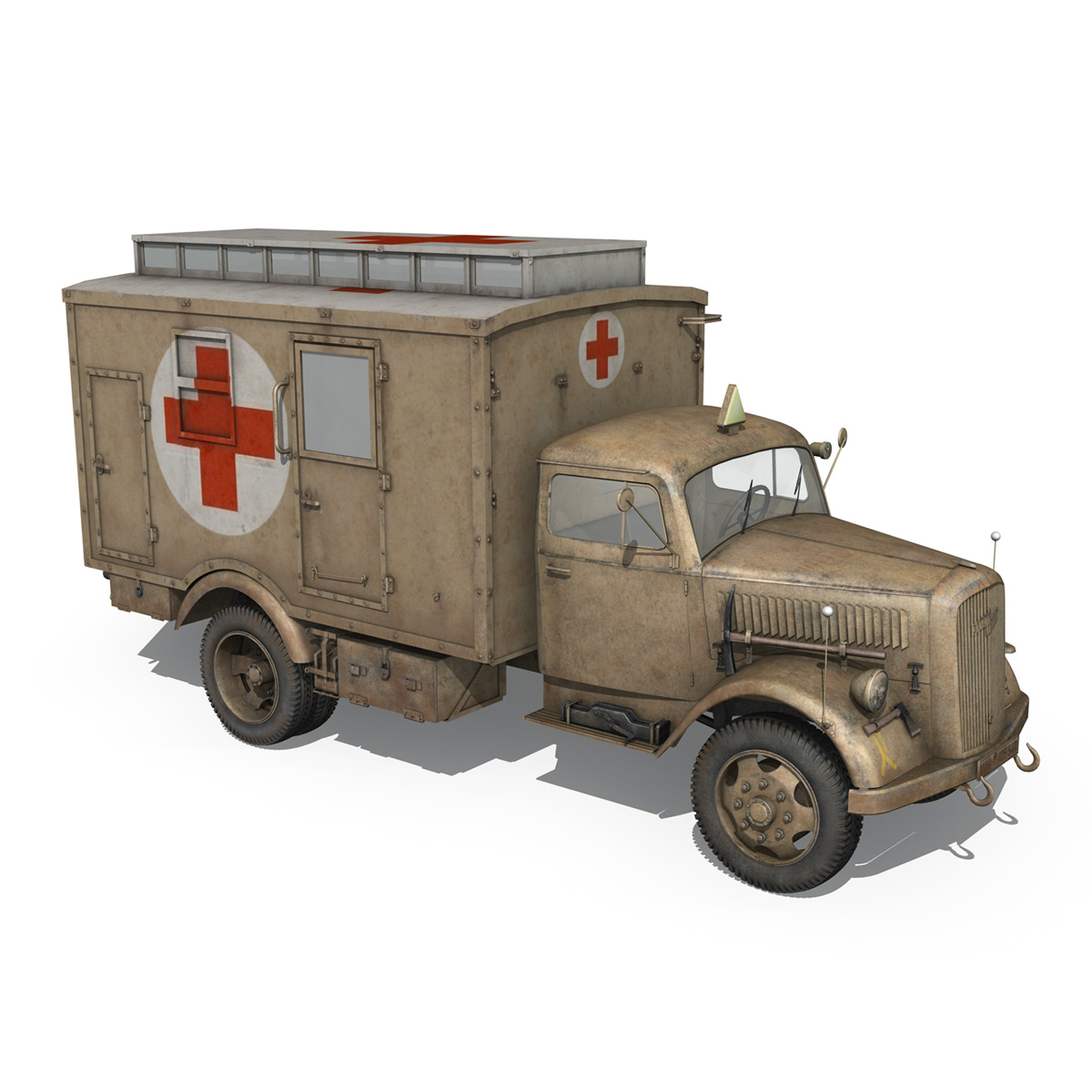 opel blitz – 3t ambulance truck – 2 pzdiv 3d model 3ds c4d fbx lwo lw lws obj 265759