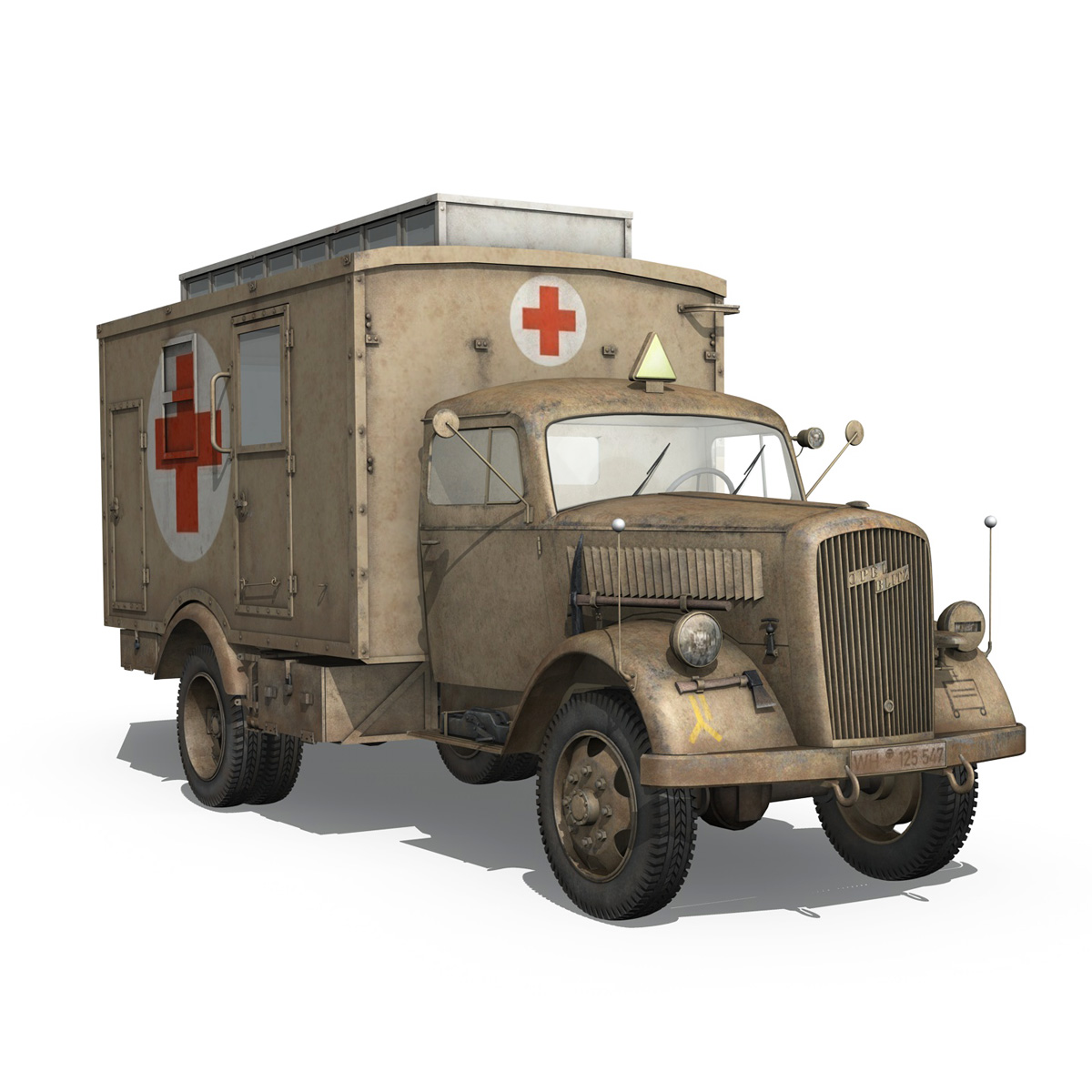 opel blitz – 3t ambulance truck – 2 pzdiv 3d model 3ds c4d fbx lwo lw lws obj 265760