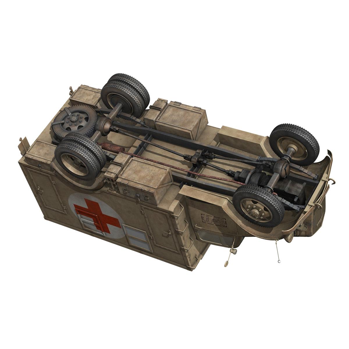 opel blitz – 3t ambulance truck – 2 pzdiv 3d model 3ds c4d fbx lwo lw lws obj 265761