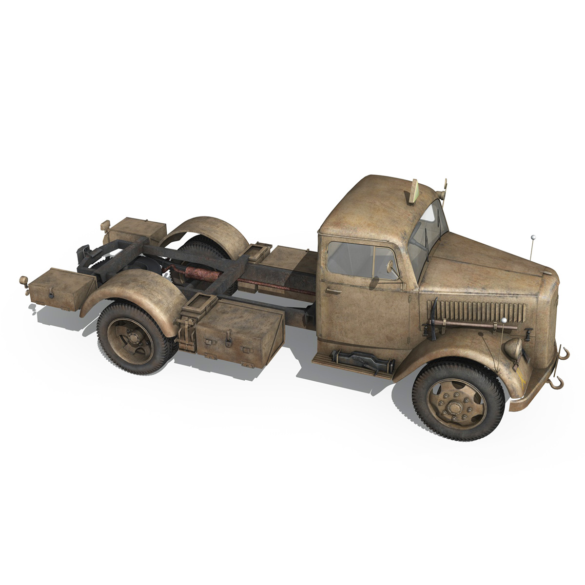 opel blitz – 3t ambulance truck – 2 pzdiv 3d model 3ds c4d fbx lwo lw lws obj 265762