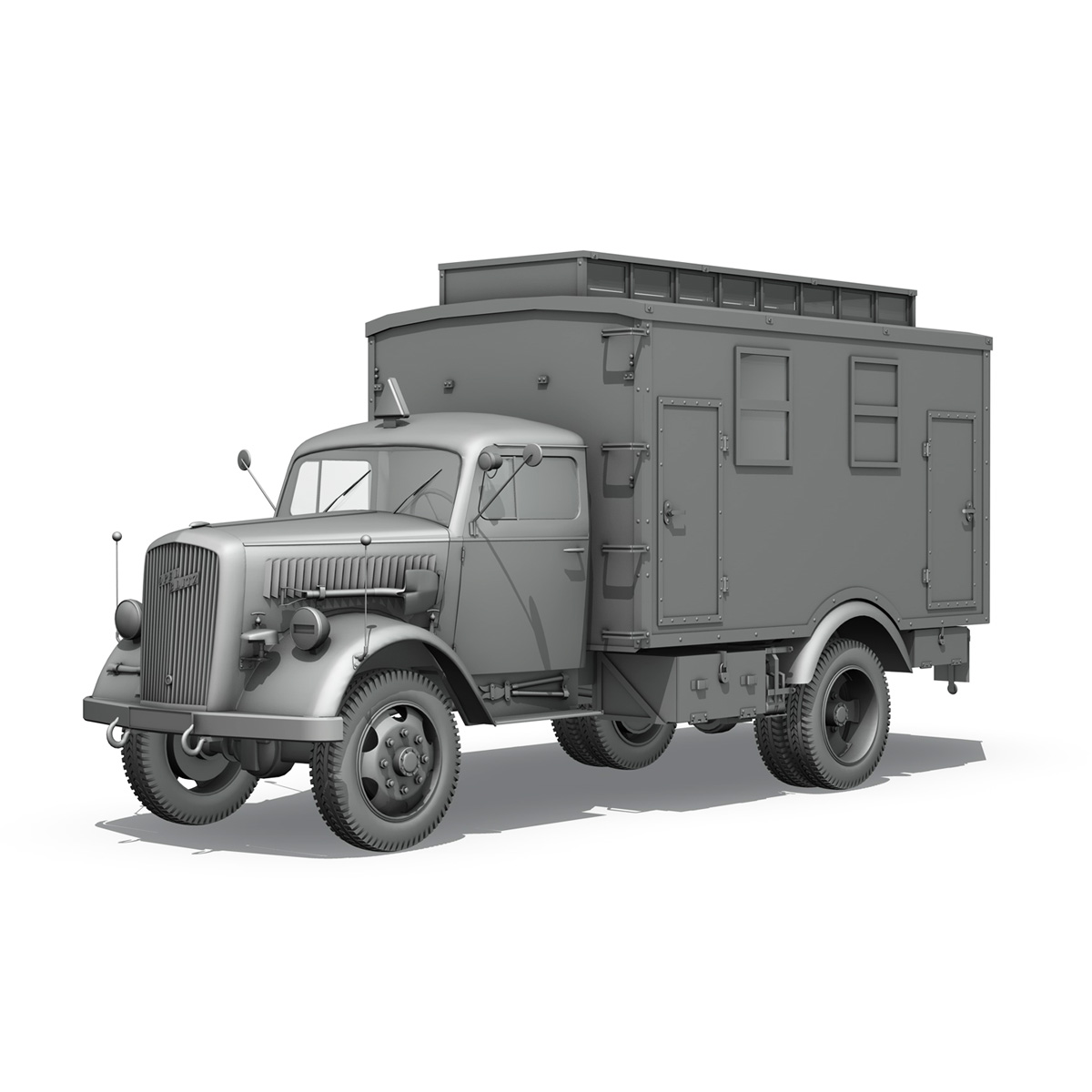 opel blitz – 3t ambulance truck – 2 pzdiv 3d model 3ds c4d fbx lwo lw lws obj 265763