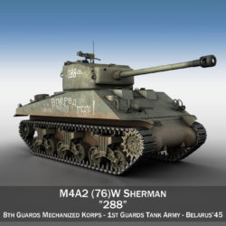 M4A2 Sherman - 288 - Russia 3d model 0