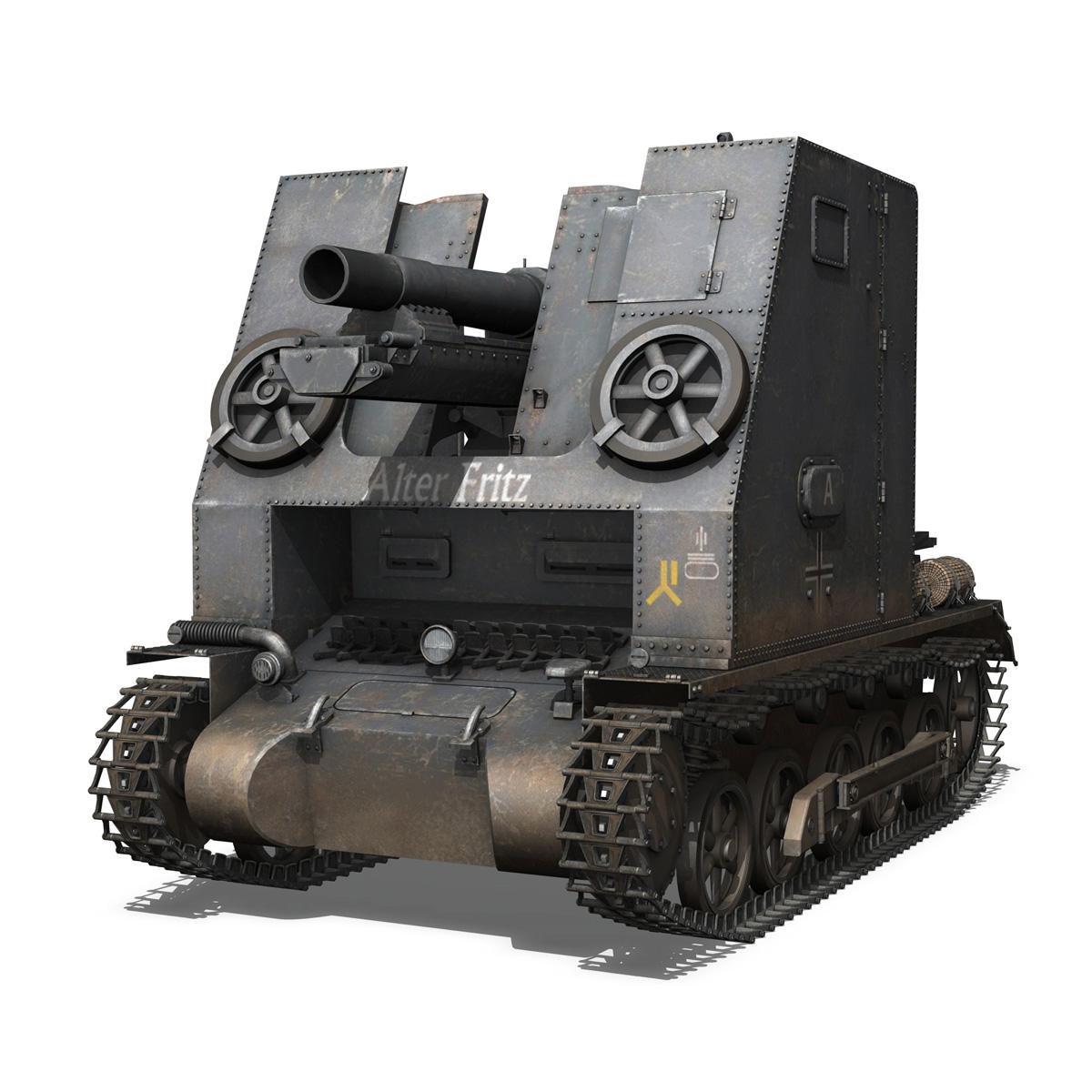 sturmpanzer 1 – bison – alter fritz – 2pzdiv 3d model 3ds fbx lwo lw lws obj c4d 265790