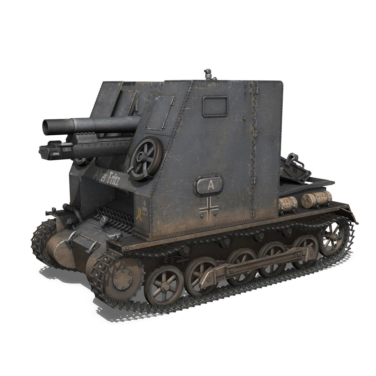 sturmpanzer 1 – bison – alter fritz – 2pzdiv 3d model 3ds fbx lwo lw lws obj c4d 265791
