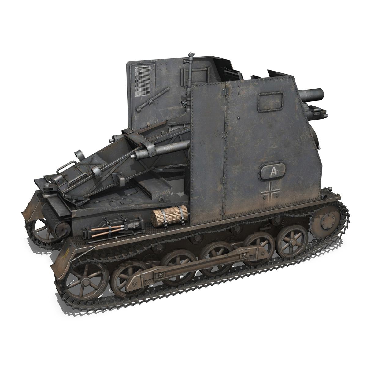 sturmpanzer 1 – bison – alter fritz – 2pzdiv 3d model 3ds fbx lwo lw lws obj c4d 265795