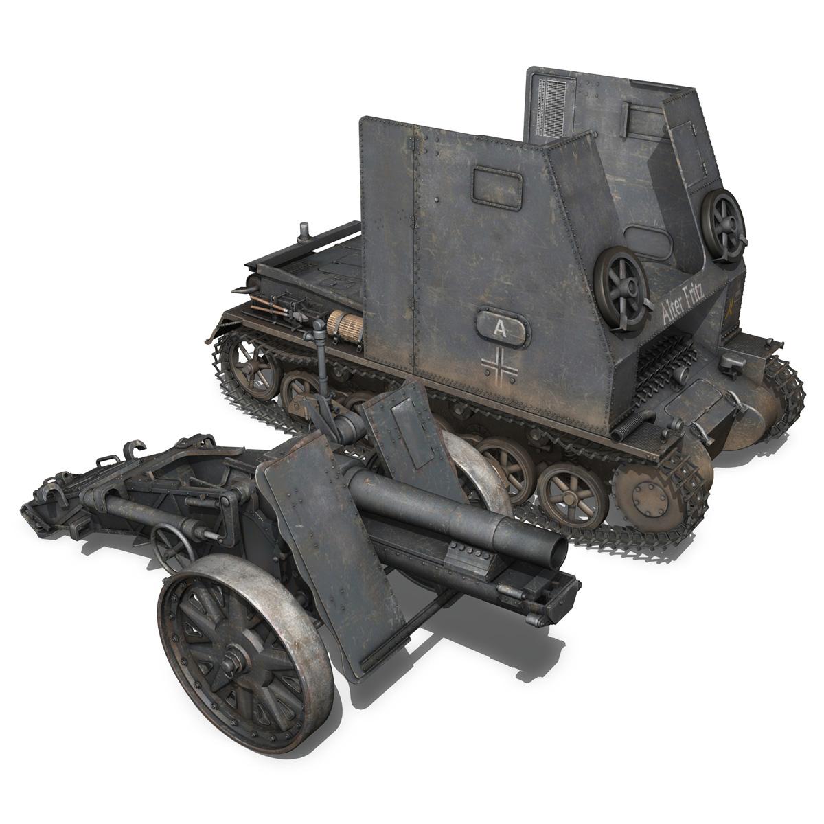 sturmpanzer 1 – bison – alter fritz – 2pzdiv 3d model 3ds fbx lwo lw lws obj c4d 265796