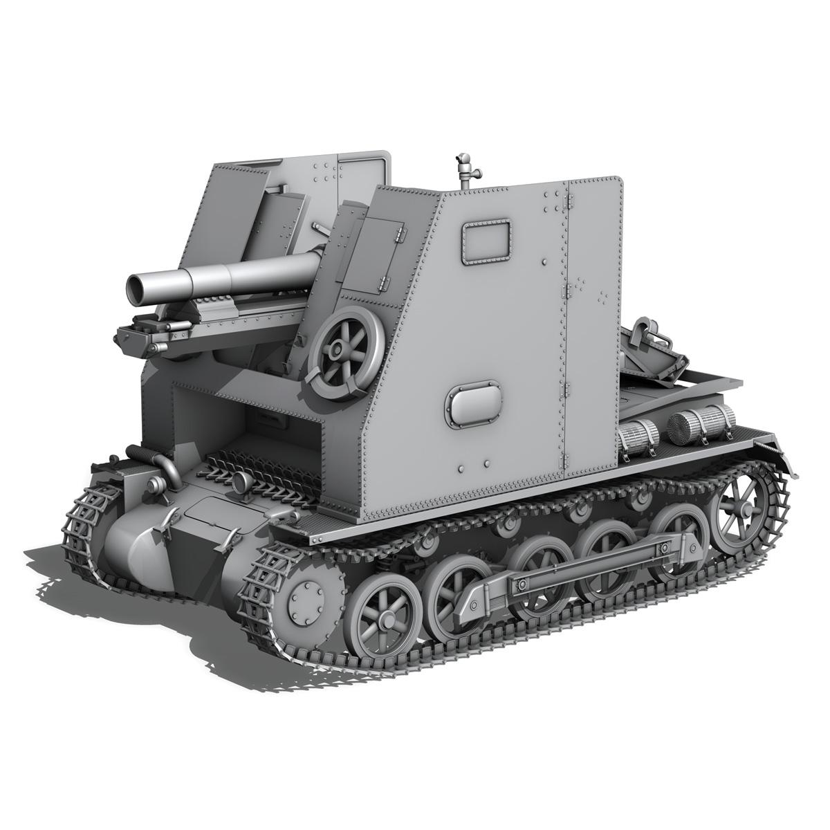 sturmpanzer 1 – bison – alter fritz – 2pzdiv 3d model 3ds fbx lwo lw lws obj c4d 265802