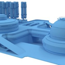 Sci-fi gas storage base 3d model 0