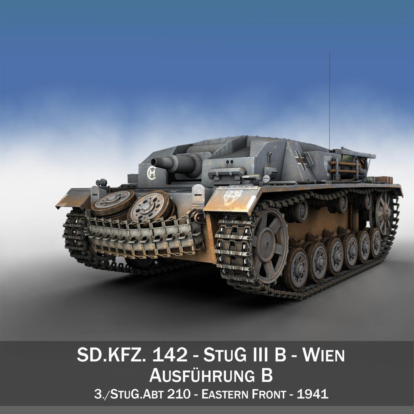 stug iii – ausf.b – wien 3d model 3ds fbx lwo lw lws obj c4d 265838