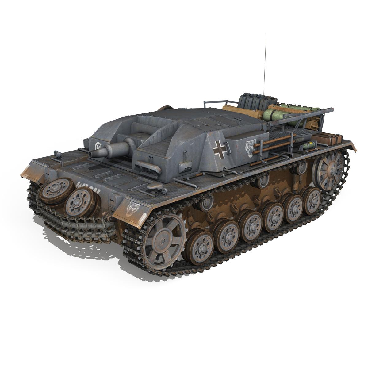 stug iii – ausf.b – wien 3d model 3ds fbx lwo lw lws obj c4d 265839