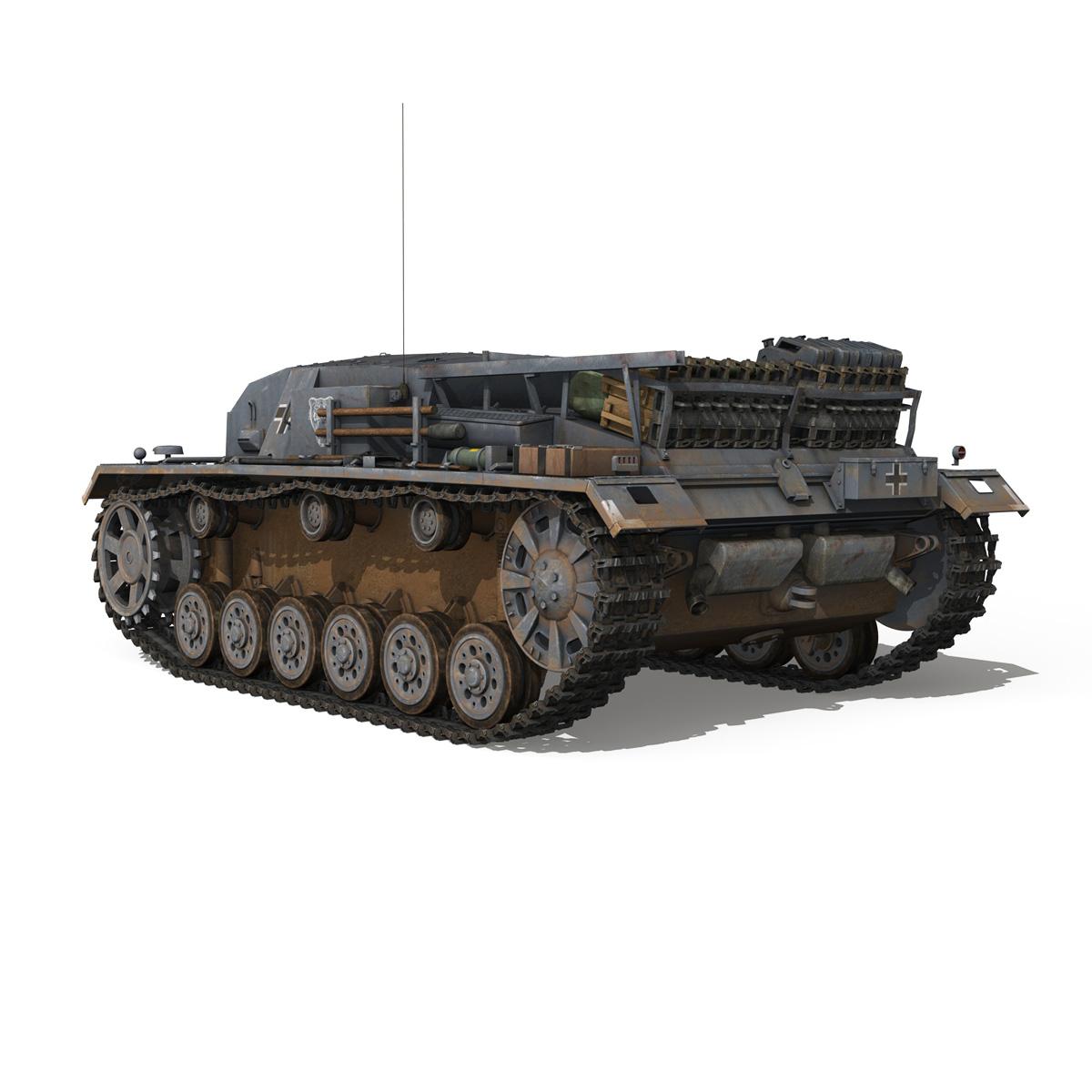 stug iii – ausf.b – wien 3d model 3ds fbx lwo lw lws obj c4d 265841