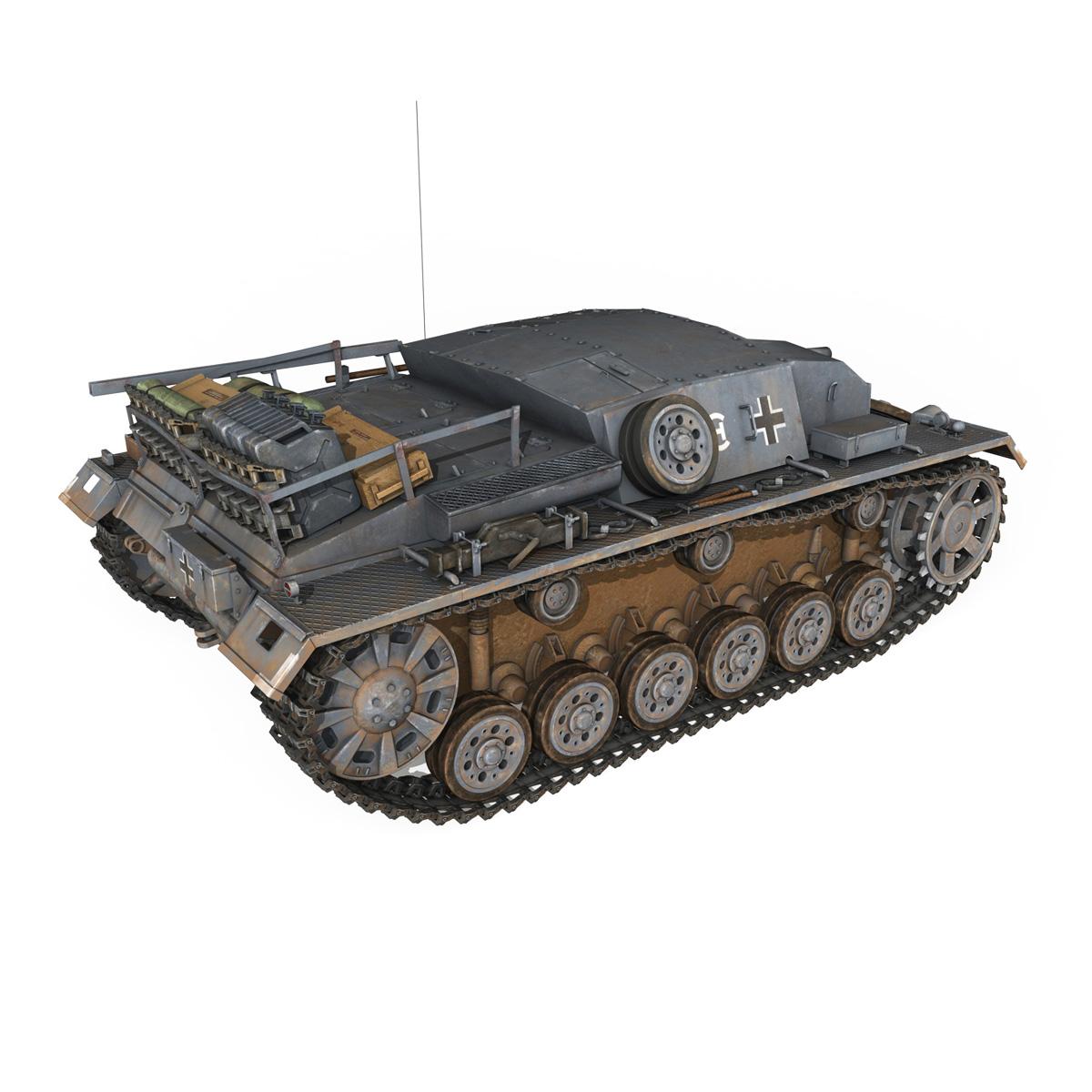stug iii – ausf.b – wien 3d model 3ds fbx lwo lw lws obj c4d 265842