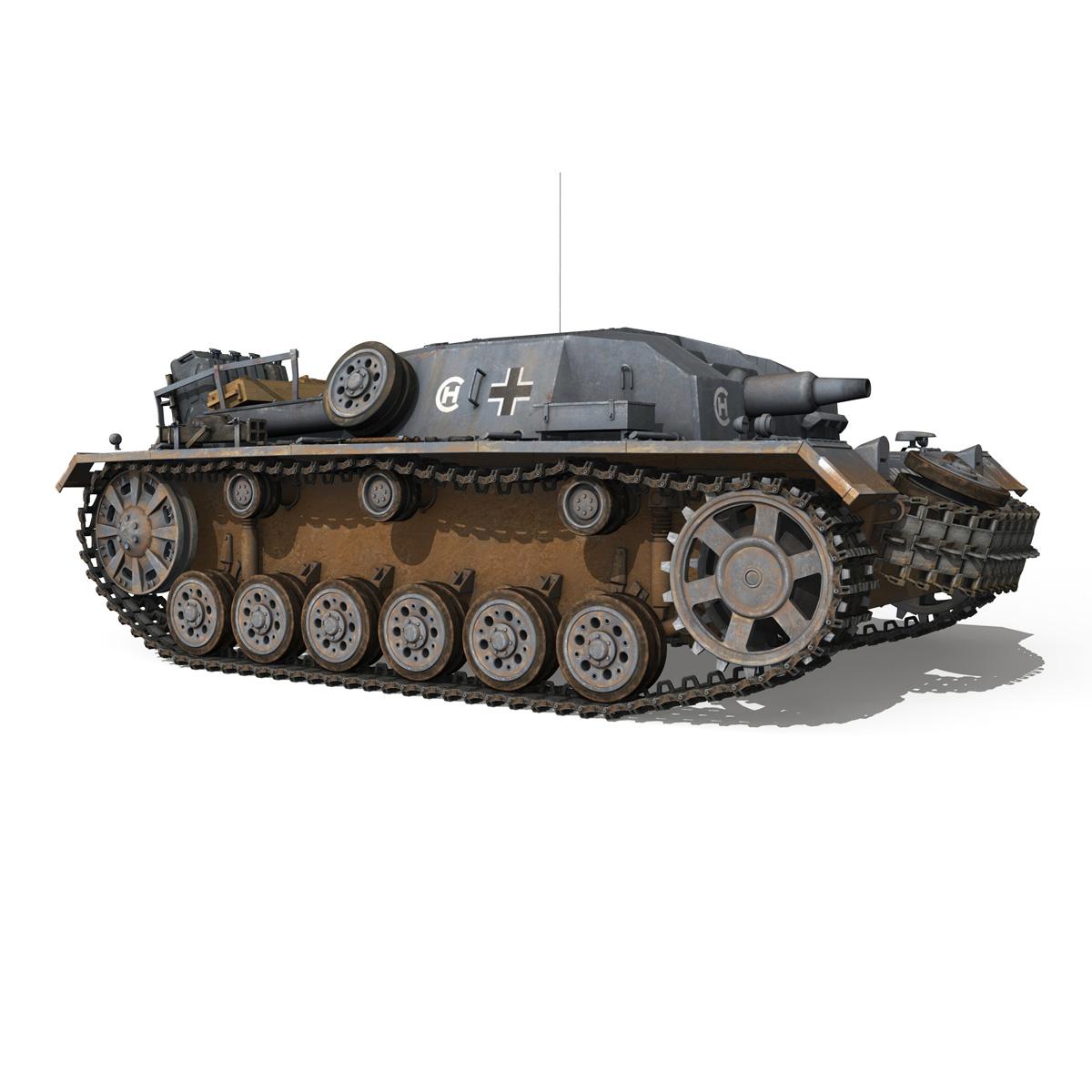 stug iii – ausf.b – wien 3d model 3ds fbx lwo lw lws obj c4d 265843