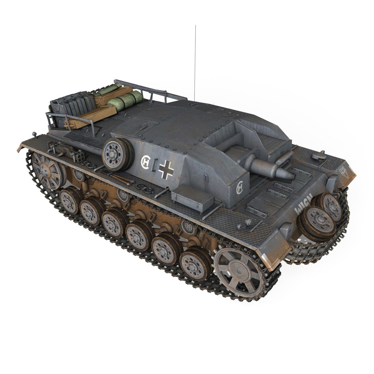 stug iii – ausf.b – wien 3d model 3ds fbx lwo lw lws obj c4d 265844