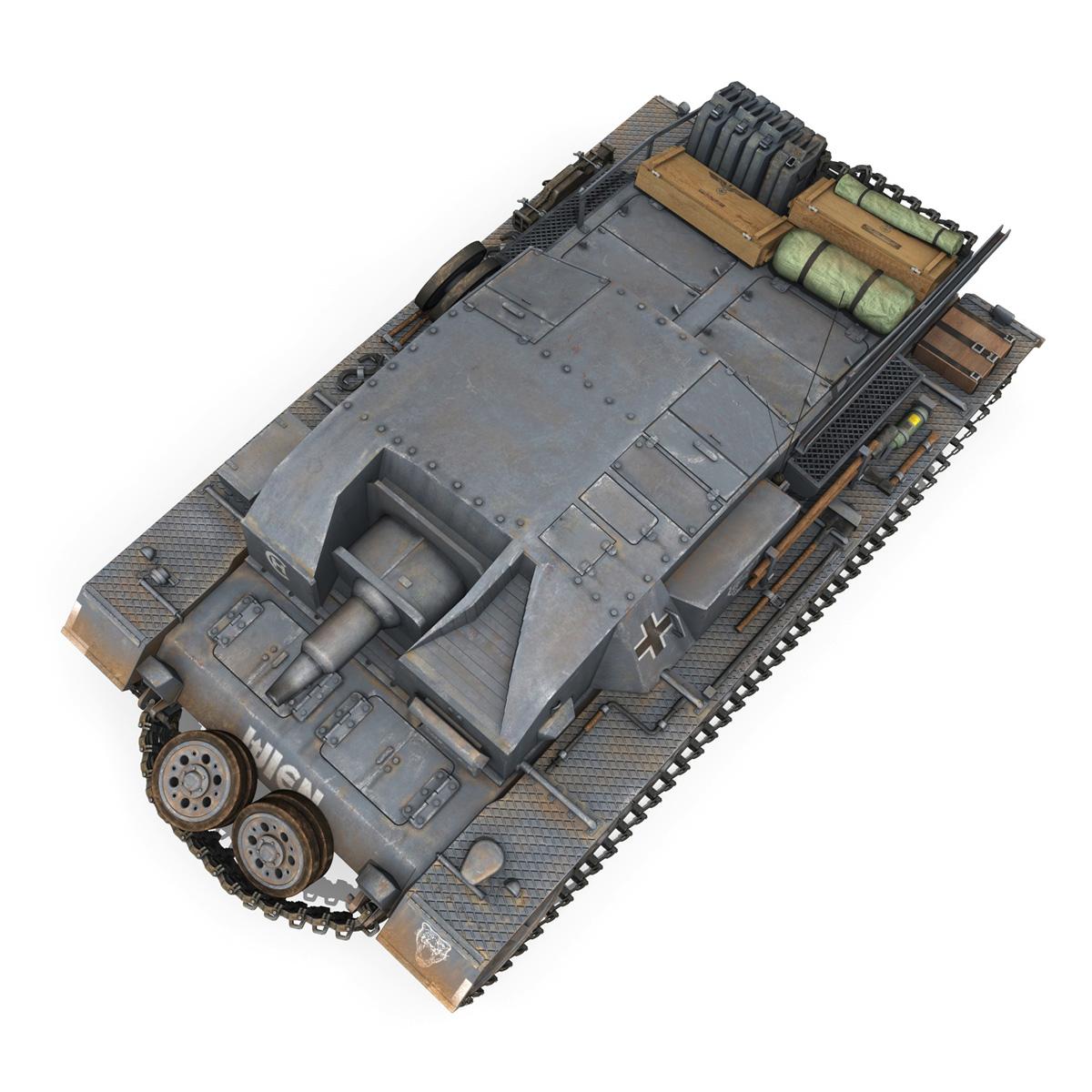 stug iii – ausf.b – wien 3d model 3ds fbx lwo lw lws obj c4d 265846