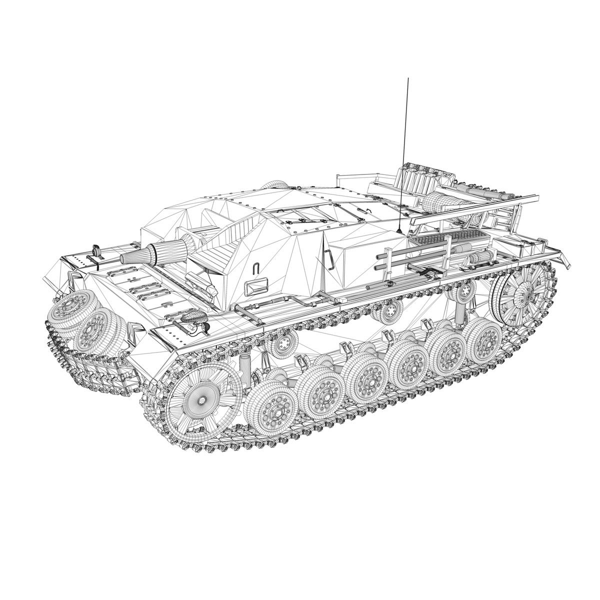 stug iii – ausf.b – wien 3d model 3ds fbx lwo lw lws obj c4d 265849