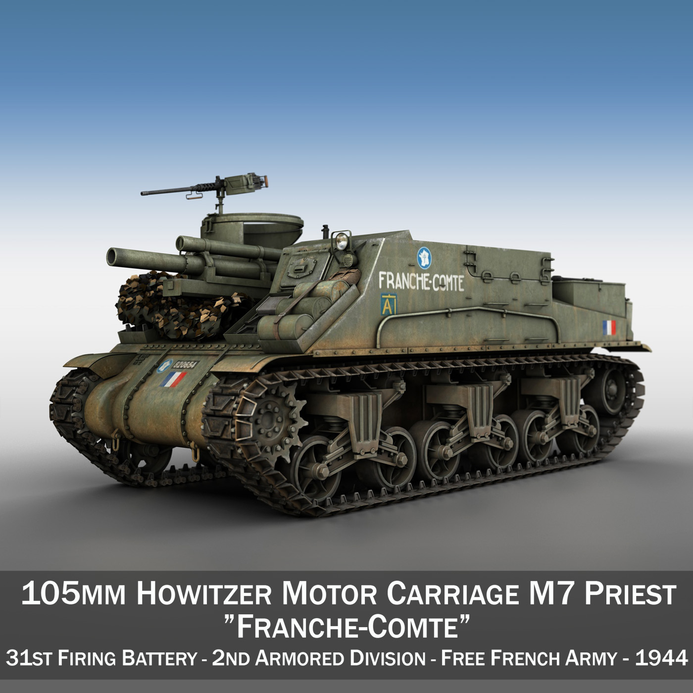 M7 Priest - Franche-Comte 3d model  265856