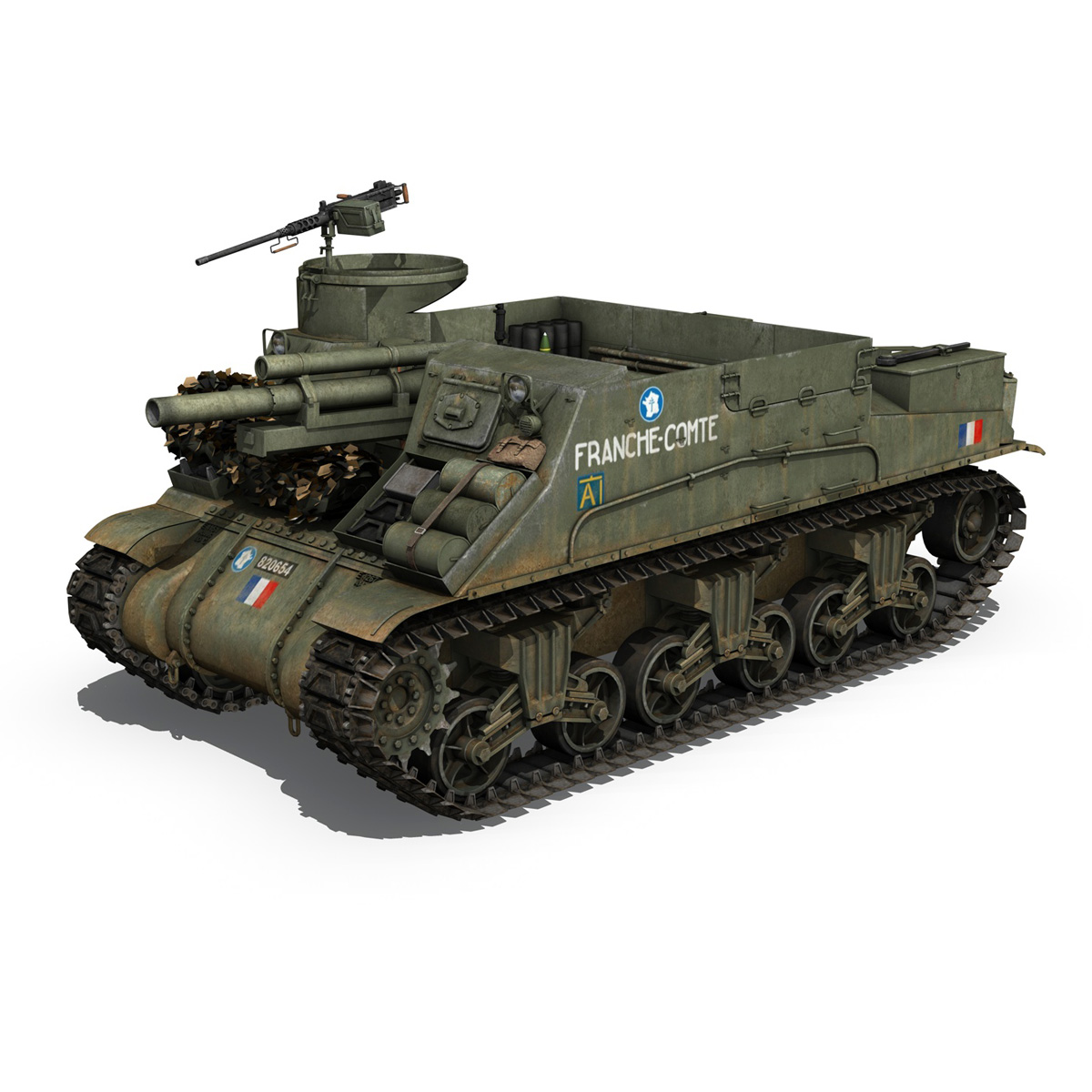 M7 Priest - Franche-Comte 3d model  265857