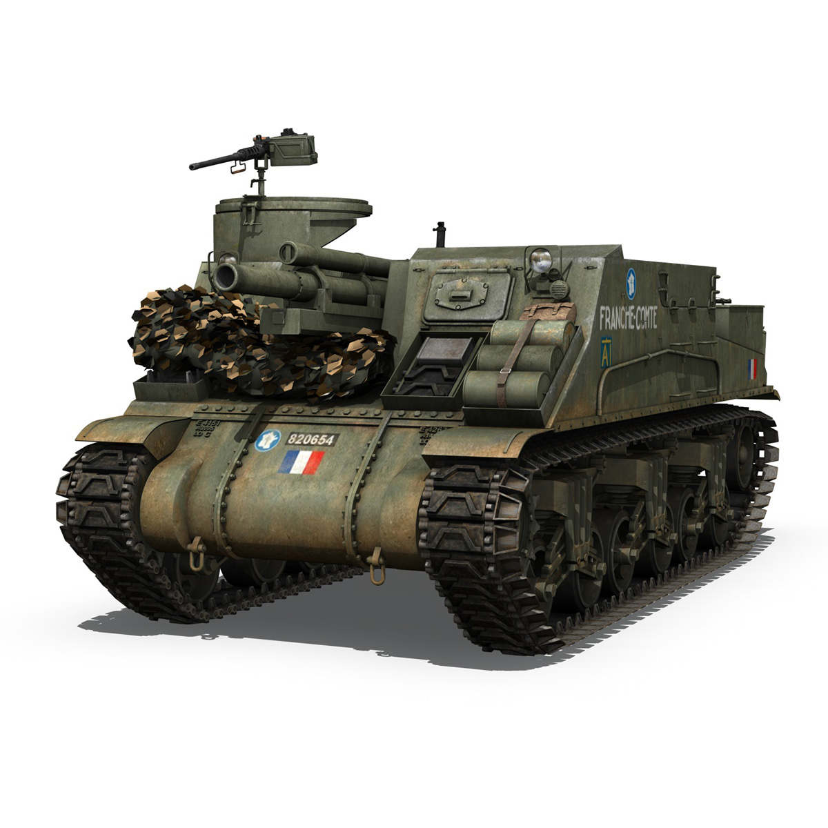 M7 Priest - Franche-Comte 3d model  265858