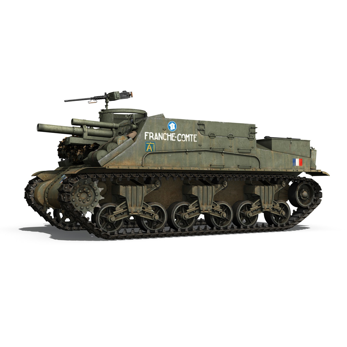 M7 Priest - Franche-Comte 3d model  265859