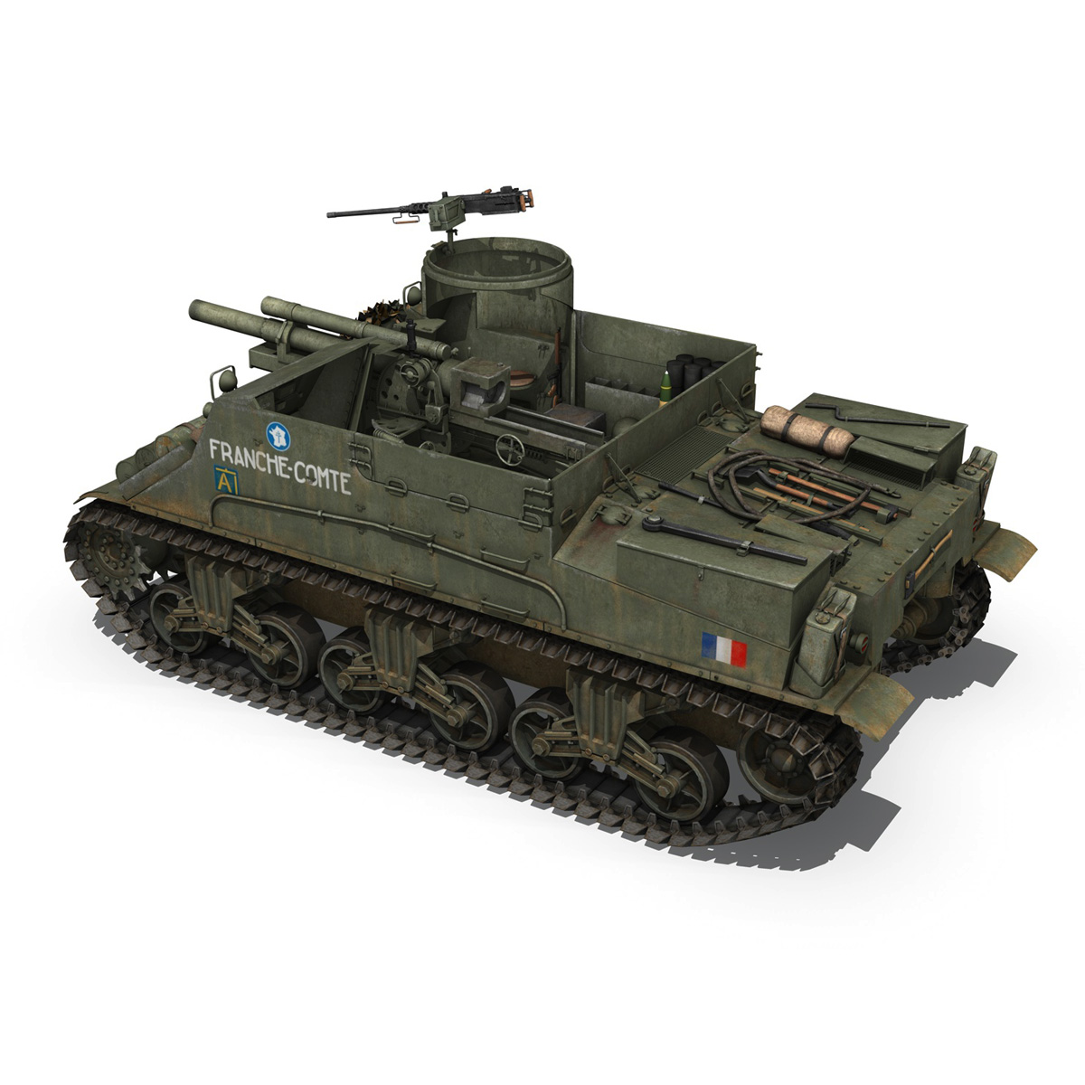 M7 Priest - Franche-Comte 3d model  265860