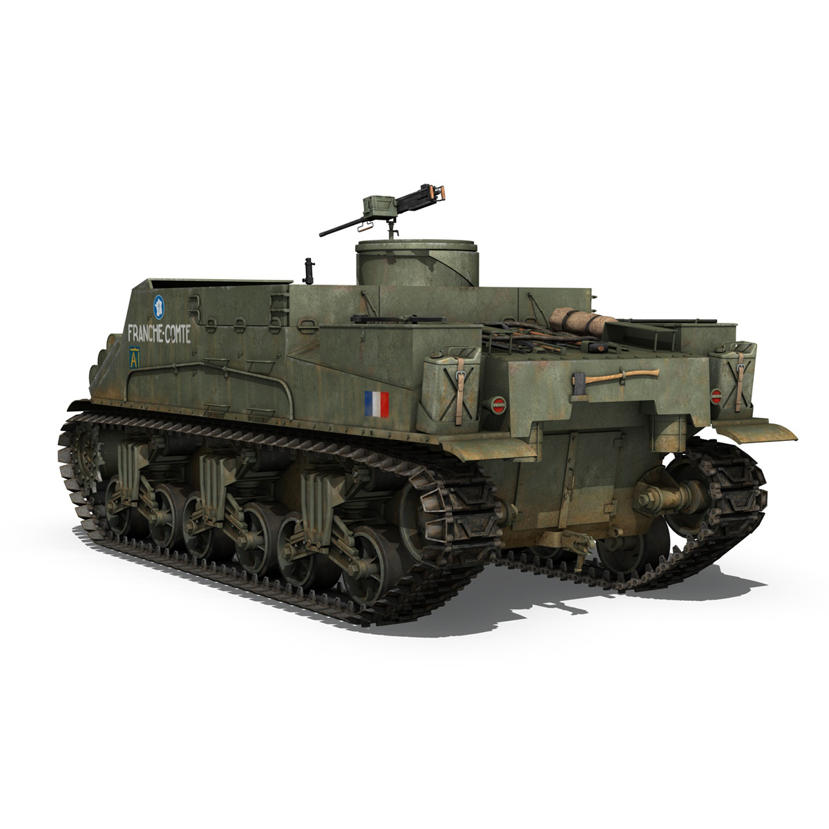 M7 Priest - Franche-Comte 3d model  265861