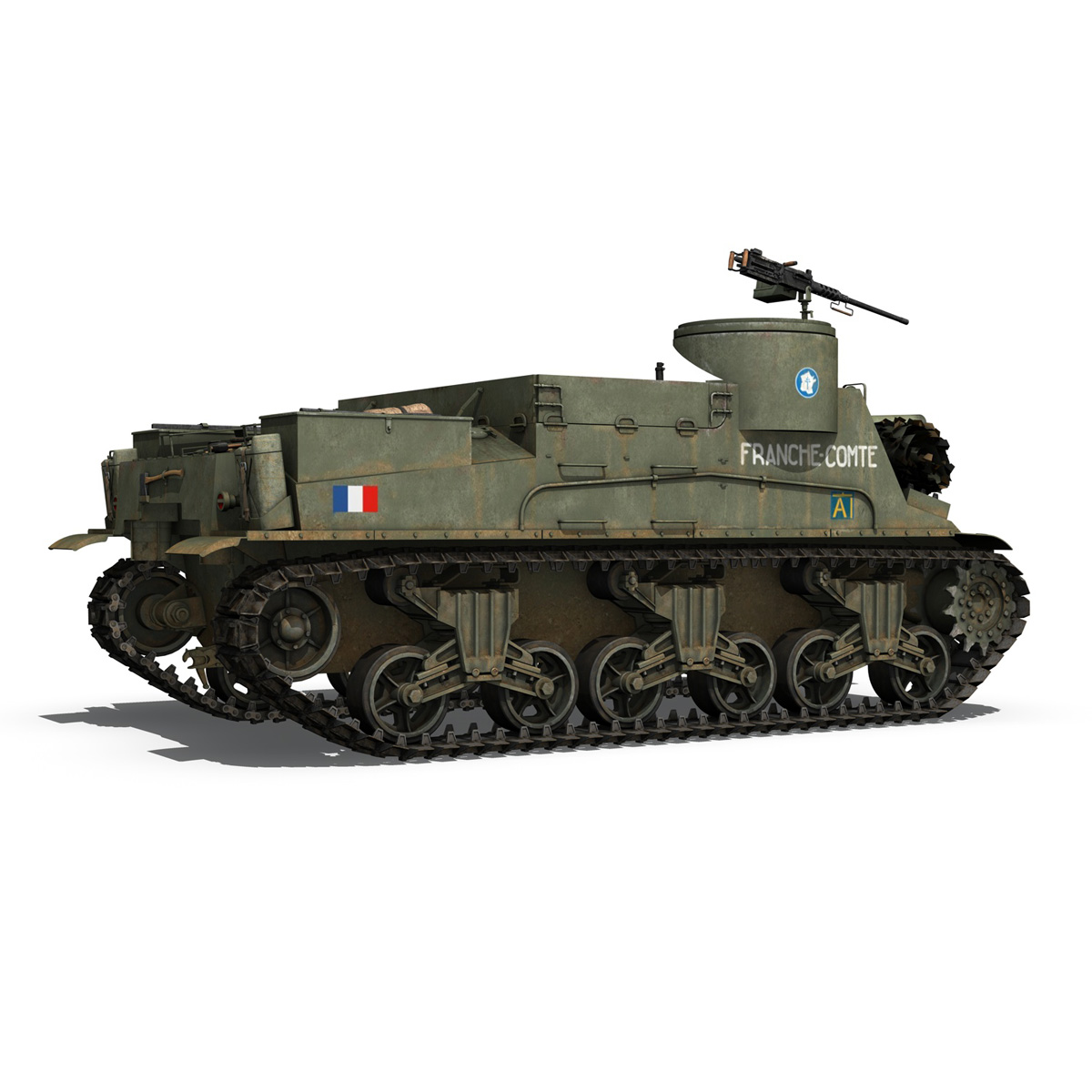 M7 Priest - Franche-Comte 3d model  265862